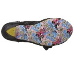Irregular Choice Palm Cove Black Lace Womens Heels Court Shoes
