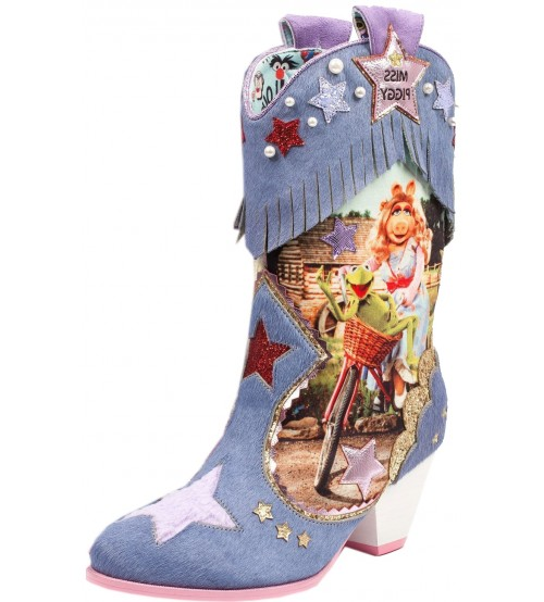 Irregular Choice X Disney The Muppets She's Hip He's Hop Blue Multi Boots