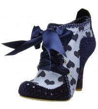 Irregular Choice Abigail's Third Party Blue Grey Womens Boots