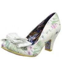Irregular Choice Ban Joe White Multi Womens Heels Court Shoes