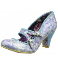 Irregular Choice Candy Whistle Blue Womens Mary Jane Heels