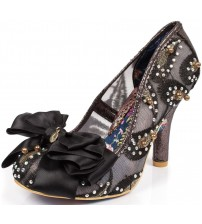 Irregular Choice Ascot Black Multi Womens Heels Court Shoes
