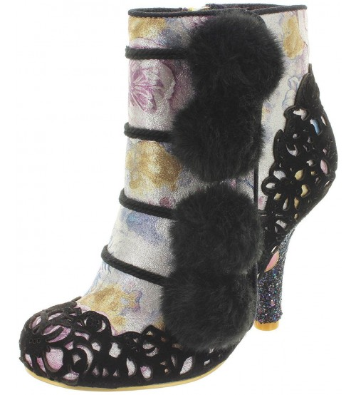 Irregular Choice Slumber Party Black Womens Hi Ankle Boots