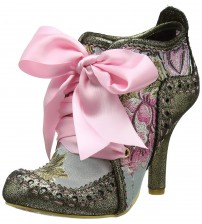 Irregular Choice Abigail's Third Party Gold Pink Womens Boots