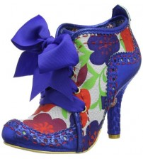 Irregular Choice Abigail's Third Party Blue Floral Womens Shoes Boots