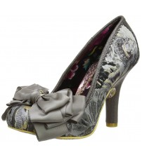 Irregular Choice Ascot Grey Womens Heels Court Shoes