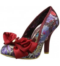 Irregular Choice Ascot Red Multi Womens Heels Court Shoes
