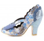 Irregular Choice Curtain Call Blue Floral Womens Court Shoes