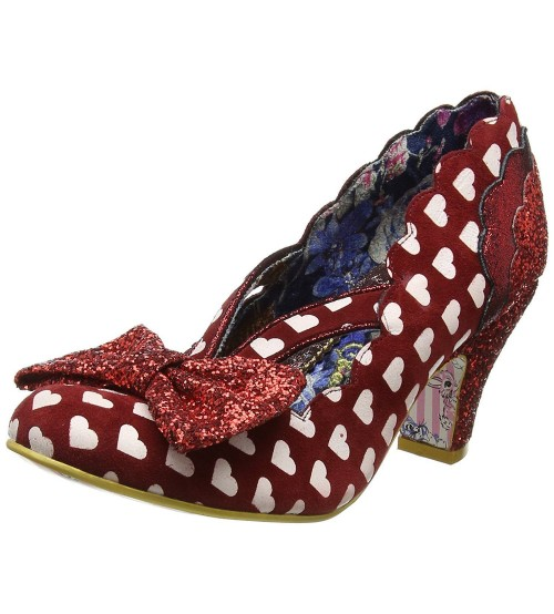 Irregular Choice Stage Left Red White Womens Heels