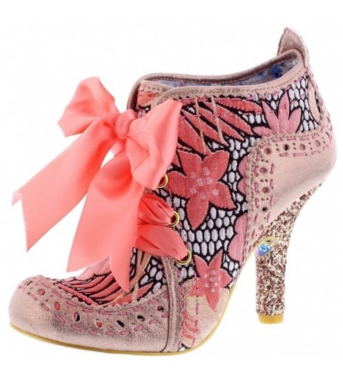 Irregular Choice Abigail's Third Party Gold Floral Womens Boots