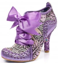 Irregular Choice Abigail's Third Party Purple Metallic Womens Boots