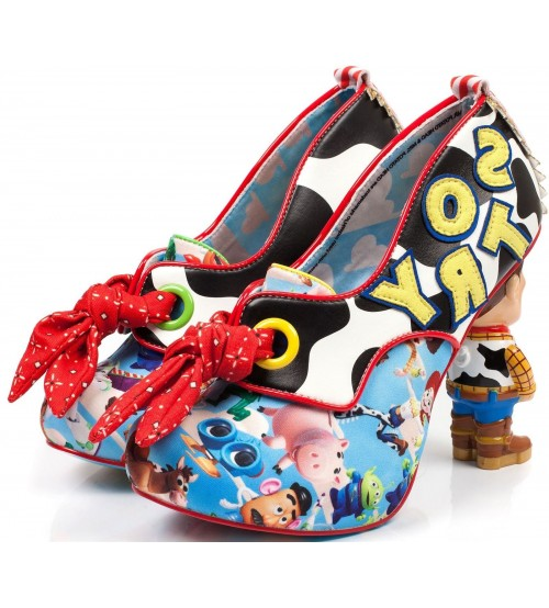 Irregular Choice Toy Story You've Got A Friend In Me Blue White Heels