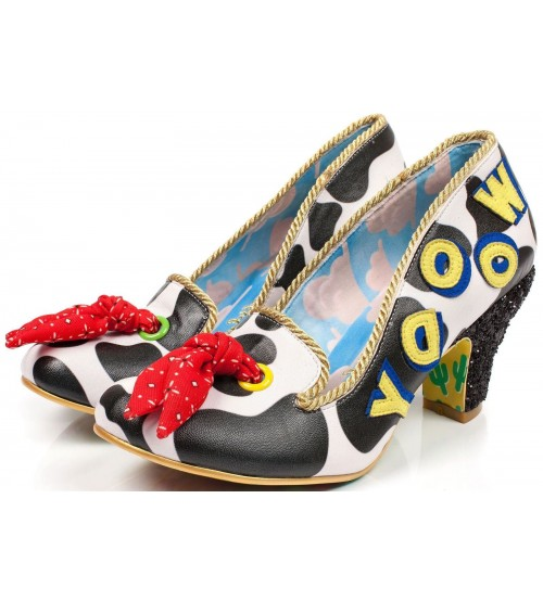 Irregular Choice Toy Story Reach For The Sky Red Black Court Shoes
