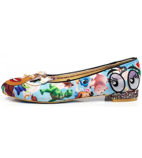 Irregular Choice Toy Story Keep Em Together Blue Multi Heels