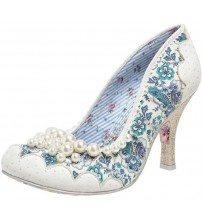 Irregular Choice Pearly Girly White Women Court Shoes
