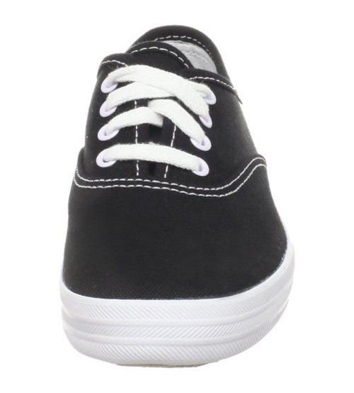 2824ddf5a3fde Keds Champion Black White Canvas Womens Plimsolls Trainers Shoes