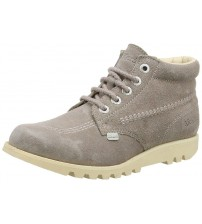 Kickers Kick Hi Light Brown Suede Womens Ankle Boots