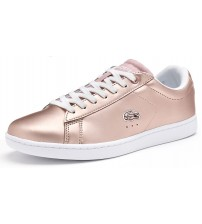 Lacoste Carnaby EVO Pink White Womens Leather Traines Shoes