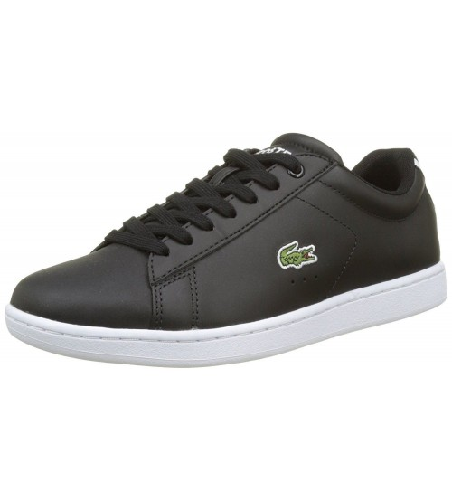 ba1c5a8a2 Lacoste Carnaby EVO BL 1 SPW Black White Womens Leather Trainers
