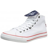 Levi's Manlo Park White Red Canvas Women Trainers