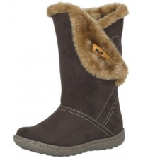 Pixie Ellie Chocolate Suede Womens Hi Winter Fur Boots