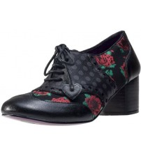 Poetic Licence Clara Bow Black Red Womens Shoes