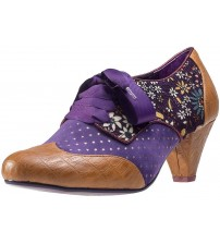 Poetic Licence End of Story Tan Purple Leather Womens Shoe Boots