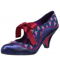 Poetic Licence Schools Out Navy Pink Womens Hi Heels Shoes