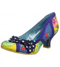 Poetic Licence Shake It Blue Yellow Womens Heels Shoes