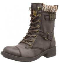 Rocket Dog Thunder Brown Galaxy Womens Lace Up Army Biker Boots