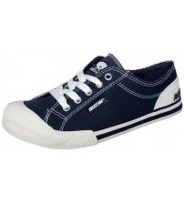 Rocket Dog Jazzin Navy White Women Laced Canvas Trainers Shoes