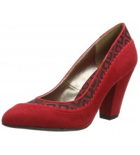 Ruby Shoo Elly Red Womens Hi Heels Court Shoes