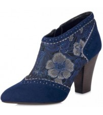 Ruby Shoo Nicola Blue Womens Ankle Boots Shoes