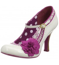 Ruby Shoo Poppy Ivory Floral Womens Hi Heels Court Shoes