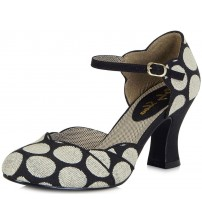 Ruby Shoo Annabel Black Spots Womens Hi Heels Shoes