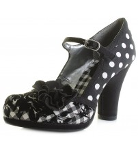 Ruby Shoo Hannah Black Spots Womens Hi Heels Shoes