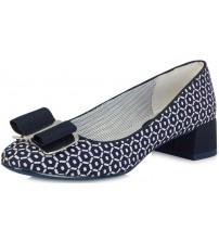 Ruby Shoo June Navy White Womens Mid Heels Shoes