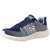 Skechers Burst Ellipse Navy Multi Womens Trainers Shoes