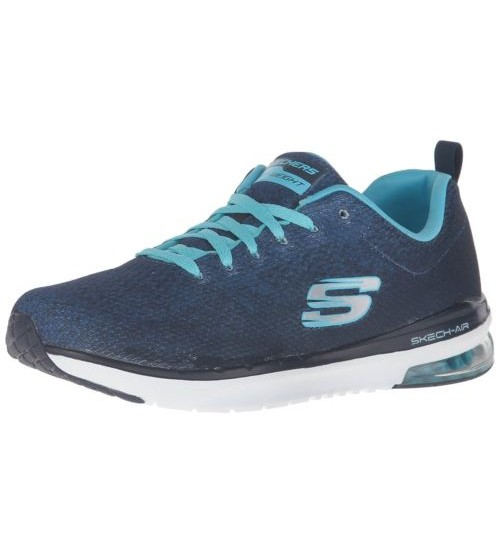 Skechers Skech Air Infinity Navy White Womens Trainers