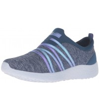 Skechers Burst Alter Ego Blue Multi Womens Trainers Shoes