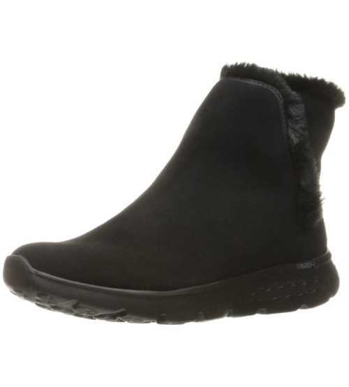 Skechers On the Go 400 Blaze Black Suede Womens Ankle Boots