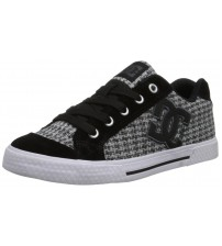 DC Chelsea SE Grey Black White Suede Womens Skate Trainers