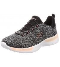 Skechers Dynamight Break Through Black Pink Womens Trainers