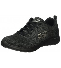 Skechers Flex Appeal 2.0 High Energy Black Womens Trainers
