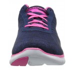 Skechers Flex Appeal 2.0 Break Free Navy Pink Womens Trainers Shoes