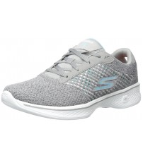Skechers Go Walk 4 Exceed Grey Womens Trainers Shoes