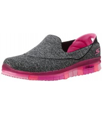 Skechers Go Flex Grey Pink Womens Silpon Shoes
