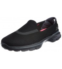 Skechers Go Walk 3 Black Pink Womens Silpon Shoes