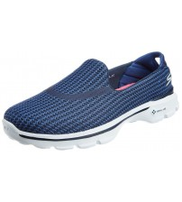 Skechers Go Walk 3 Navy Black White Womens Silpon Shoes
