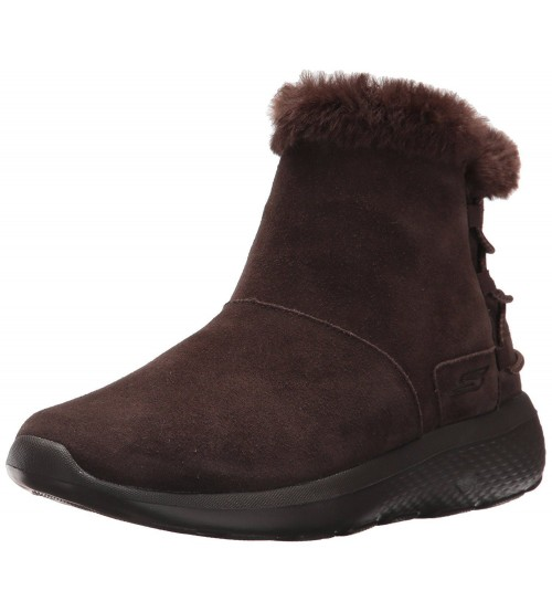 Skechers On the Go City 2 Hibernate Chocolate Suede Womens Boots